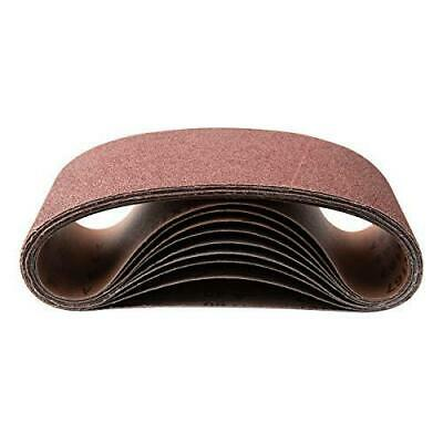 POWERTEC 111290 1 x 30 Inch Sanding Belts80 Grit Aluminum Oxide Sanding Belt