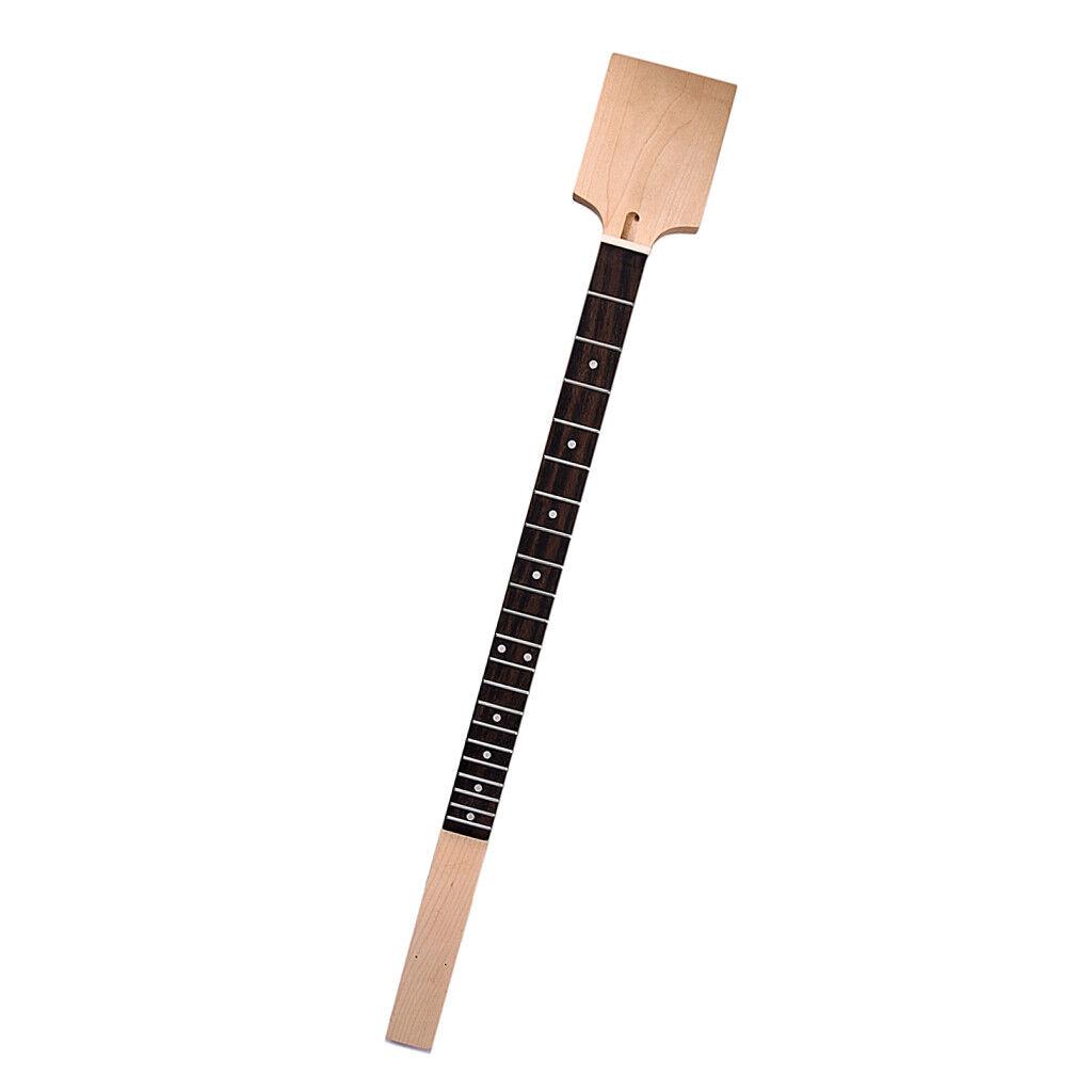 Pulido Cigar Box Guitar Cuello Cuello Cuello de Arce + Traste Diapasón de palo de rosadodo 795 X 38.5 mm  cómodamente