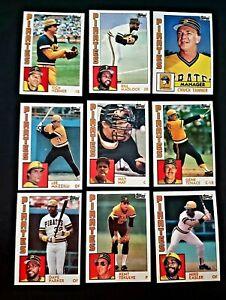 Lot-of-9-1984-Topps-Pittsburgh-PIRATES-Bill-Madlock-Dave-Parker-baseball