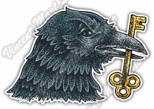 "Raven Black Crow Beak Key Scary Bird Lock Car Bumper Vinyl Sticker Decal 5""X4"""