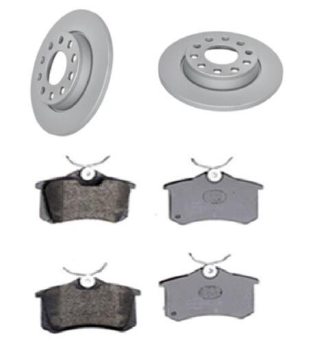 Brake Discs X2 And Pads Set Rear Fits Audi A4 8E2 B6 8E5 B6 3.0 Quattro 2001-04