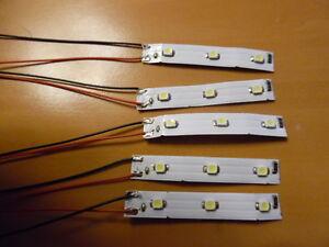 LOT-de-10-ECLAIRAGES-LEDS-CABLES-pour-maquette-train-electrique-DECOR-HO