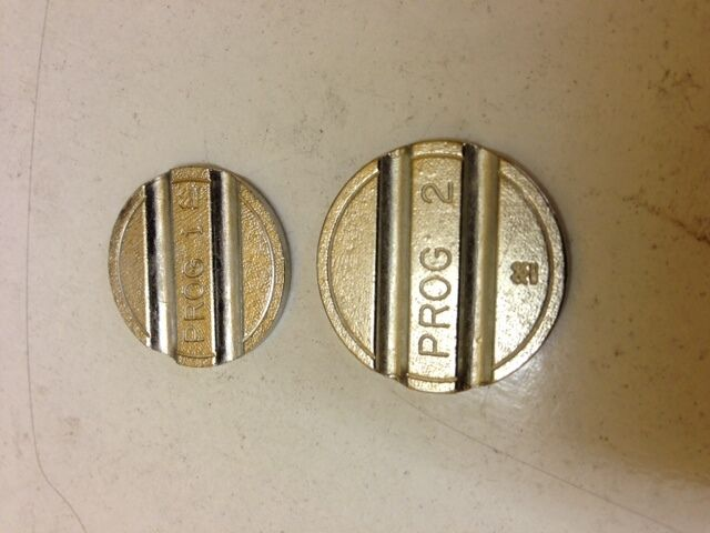 1 TO 6 PROGRAMME TOKENS --JET WASH-HIGH SECURITY 50 off VENDING-COIN OPS