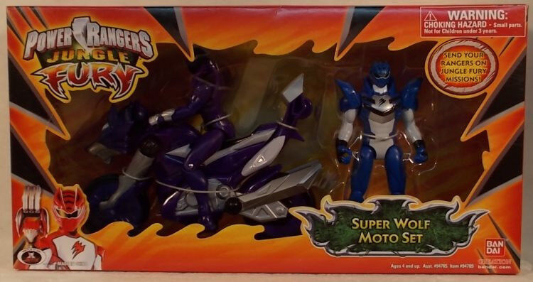 Power Rangers Jungle Fury Super Wolf Moto Set Transforming battle Fahrrad Jaguar