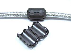 Klappferrit-Ferrit-fuer-Kabel-4-7mm-schwarz-Netzfilter-EMI-RF-Filter-black