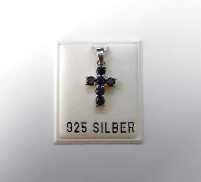 UnermüDlich Neu 925 Silber KettenanhÄnger Kreuz Zirkonia Steine Jet/schwarz AnhÄnger Kreuze