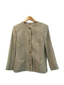 Designer-Valentino-VTG-Stunning-Size-10-44-IT-Wool-Check-Women-039-s-Jacket