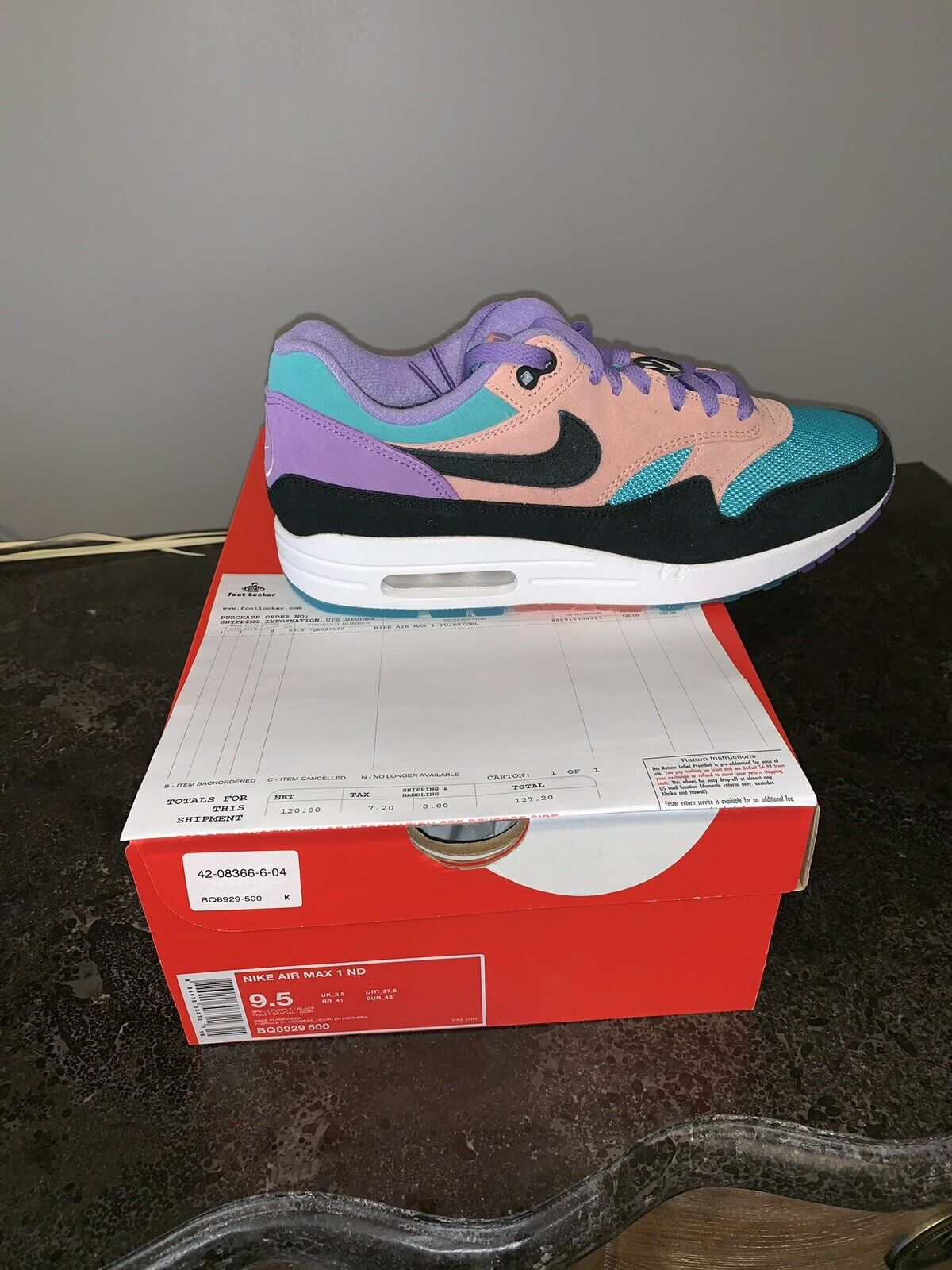 2019 Nike Air Max 1 Multicolor Have a Nike Day Size 9.5 BQ8929-500 Have A Nice