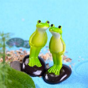 Stehender-Frosch-Miniatur-Garten-Dekoration-Handwerk-Landschaftsbau-Zubehoer-Pw