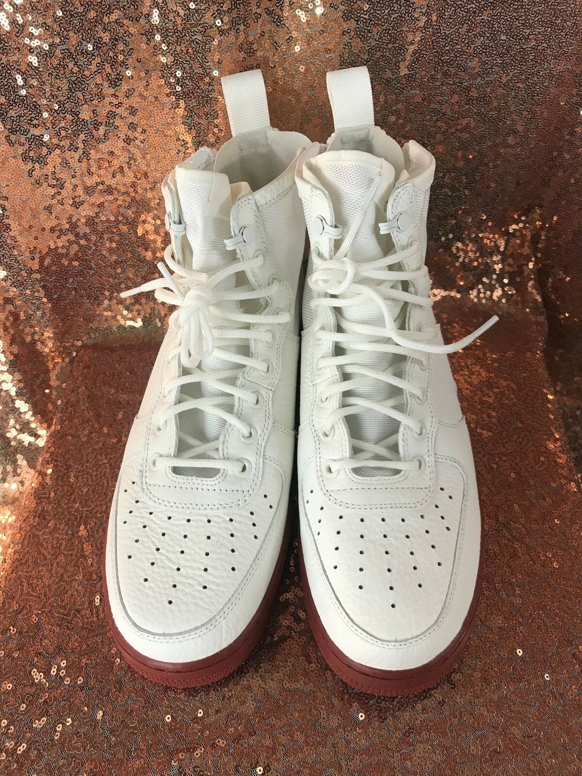 Nike SF Air Force 1 Mid Ivory Mars Stone 917753-100 Men's Size 10.5 SNEAKER