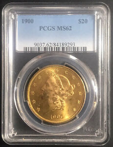 1900 $20 US Liberty Gold Double Eagle PCGS MS-62