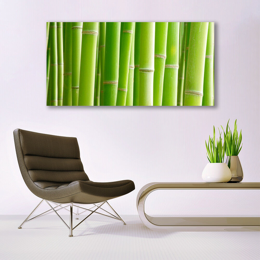 Glass print Wall art 140x70 Image Picture Bamboo Stalks Floral Floral Floral e093cc