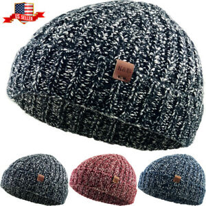 Warm-Winter-Knit-Cuff-Beanie-Cap-Fisherman-Watch-Cap-Daily-Ski-Hat-Skully-Hea
