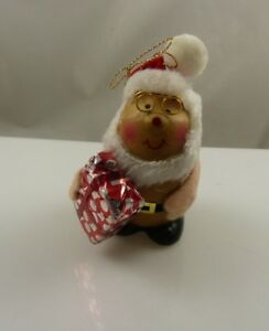 Cute-Santa-vintage-ceramic-Christmas-ornament-xmas