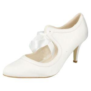 Anne-Michelle-F9755-da-Donna-Color-Avorio-Scarpe-di-Raso-UK-Sizes-3-x-8-13A