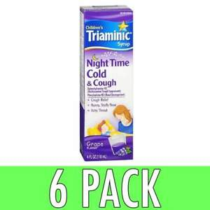 Buy Triaminic Childrens Cold And Cough Night Time Syrup Grape 4 Fl