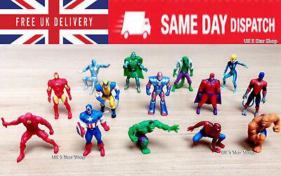 14 PCS MARVEL Superhero Action figures CAKE TOPPER Avengers xmen SpiderMan hulk