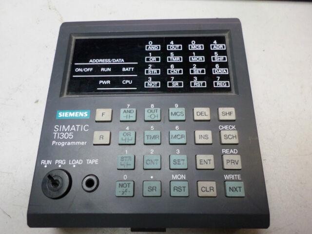 SIEMENS PLC HAND PROGRAMMER -- TI305 SERIES -- TI305-PROG -- EXCELLENT COND