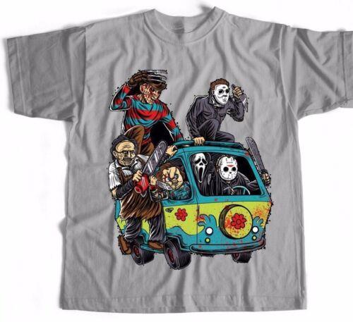 Friday 13th T-shirt Chucky Jason  Freddy Kruger Horror Film Tv Action Alien