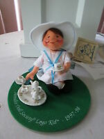 Annalee 7 Tea Time Girl Logo Doll Society, Mint, With Tags, 1997-1998
