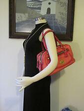 NWT Coach 13382 Bonnie Coral Leather Fuchsia Patent Leather Sathcel Bag  $458