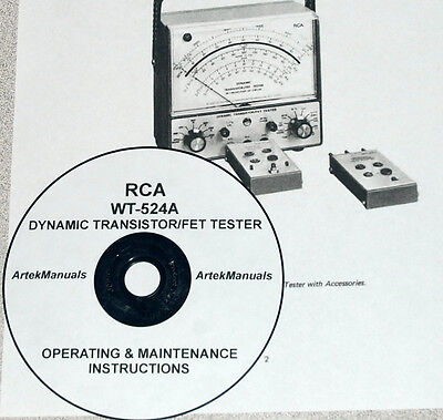 Operating /& Maintenance Manual Weston 981 Type-3 Tube Tester
