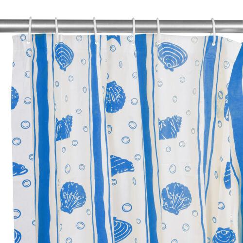 12 Gancio Modellato Peva Tenda Doccia Bagno Tinta Splash Prova Foro Set Anello
