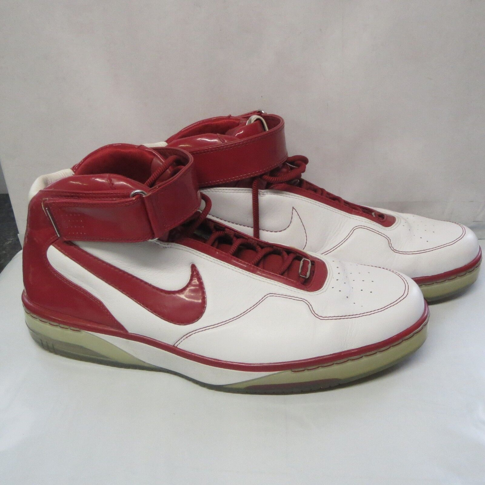 nike air force 25 White Varsity Crimson Size 17 Red