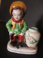 Vintage Cowboy ceramic planter (RED mark Occupied Japan)