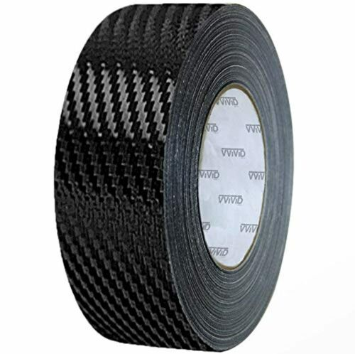 Black VViViD Dry Carbon Fibre Detailing Vinyl Wrap Tape 2 Inch x 20ft Roll DIY