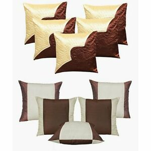 Dekor World Buy 5 Get 5 Free (16 X 16 Inches) Cushion Covers - Set Of 10