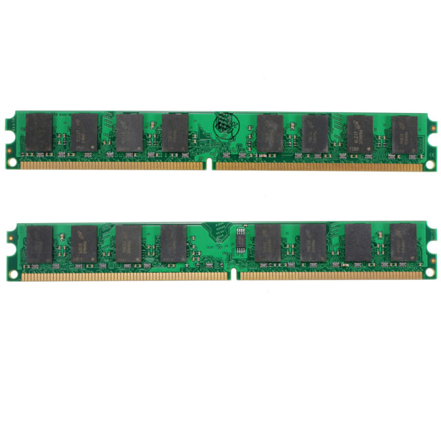 4GB(2X2GB)DDR2-800MHz PC2-6400 240PIN Desktop DIMM Memory  For AMD Motherboard