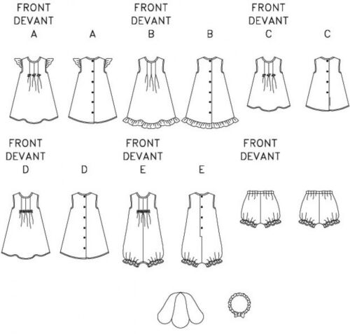 Free UK P/&P Butterick Toddlers Easy Sewing Pattern 3405 Dresses Jumpsu...