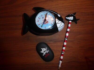 Offizielle Website Capt'n Sharky Cooler Wecker In Haiform Radiergummi Bleistift Mit Topper Hai Krankheiten Zu Verhindern Und Zu Heilen
