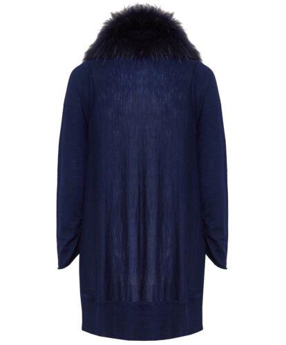 Izzy Cascade Taglia Nwt Alice Fur Cardigan Blu S Olivia Collar TOfqxwgZ