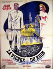 Affiche 60x80cm LA VIERGE DU RHIN 1953 Gilles Grangier - Jean Gabin, Labourdette