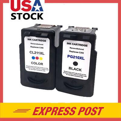 2-pk PG210 XL CL211XL Inkjet Combo for Canon PIXMA MP250 MP270 MP280 MP480 MP490