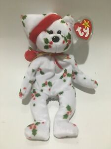 Vintage TY Beanie Baby 1998 Holiday Christmas Teddy Retired Jingle Bell Hat Cap