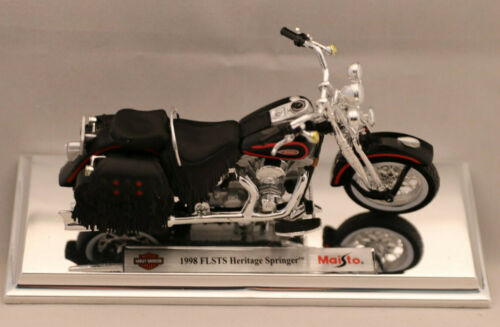 1998 flsts Heritage Springer//maisto//escala 1:18 Harley-Davidson