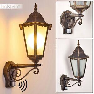 Hof Terrassen Lampen Wandlampe Bewegungsmelder Aussen Antik Wand Leuchten weiss