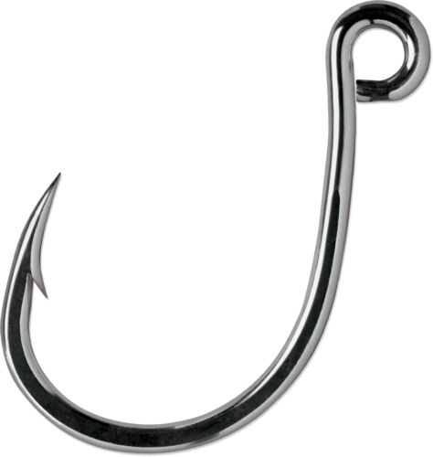 Très Comme neuf condition Inline Single Hook 4X Saltwater Lure Fishing Heavy Duty Remplacement Crochet