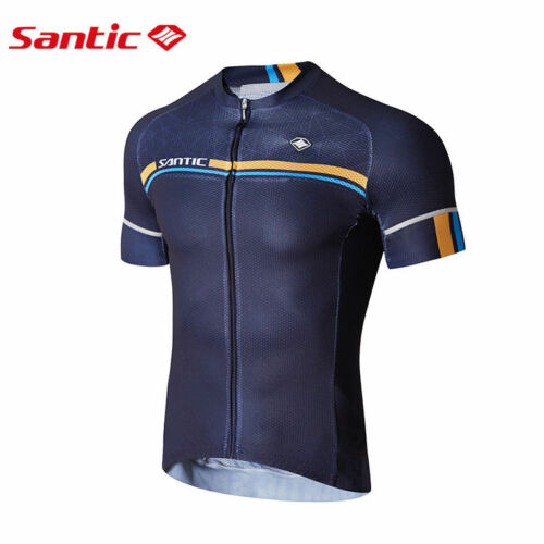 Santic Men Cycling Short Jersey Sleeve Cuff Road Bike MTB Short Sleeve Quick Dry