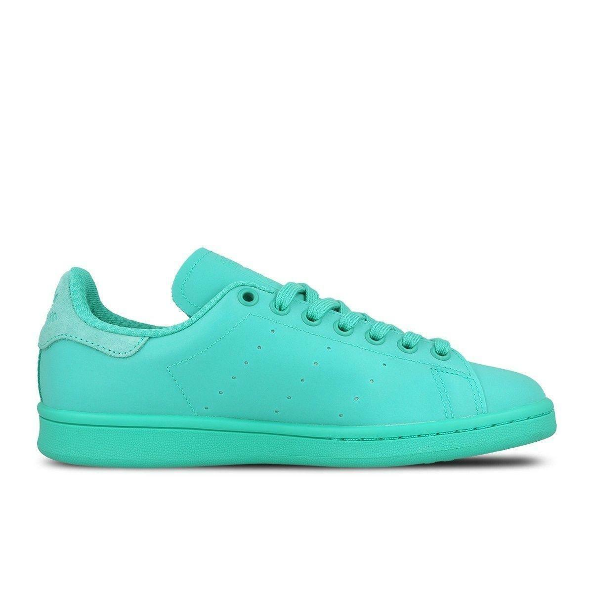 Mens ADIDAS STAN SMITH ADICOLOR Dark Mint Synthetic Trainers S80250