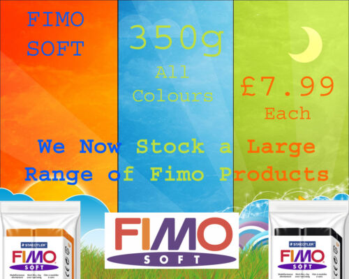 FIMO Soft 350g Polymer Clay Colours For Moulding Modelling Jewellery Craft Art