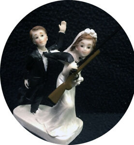 Details About Shot Gun Groom Top Wedding Cake Topper Bride Deer Hunting Funny Outdoor Funny