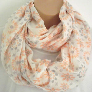 Beautiful Summer Daisy Cotton Mix Circle Infinity Scarf Snood - New Spring Style