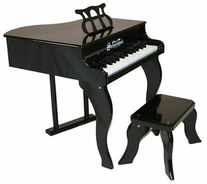 NEW-Schoenhut-30-Key-Fancy-Baby-Grand-With-Bench-BLACK-Free-Shipping