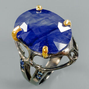 Handmade35ct-Natural-Blue-Sapphire-925-Sterling-Silver-Ring-Size-8-25-R86426