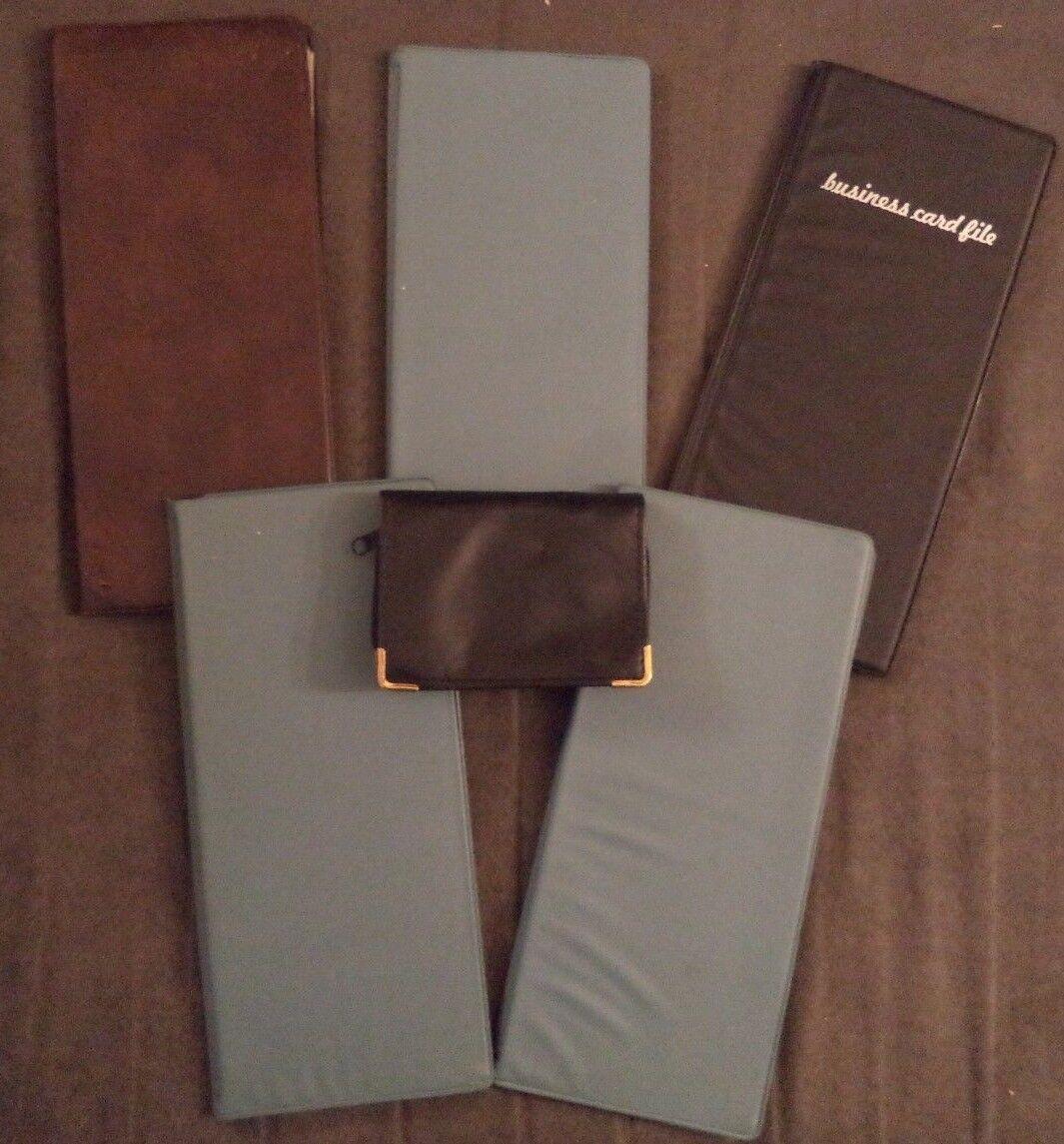 Vintage Lot 6 HAZEL Business Card Holders Binders Folders Organizer File