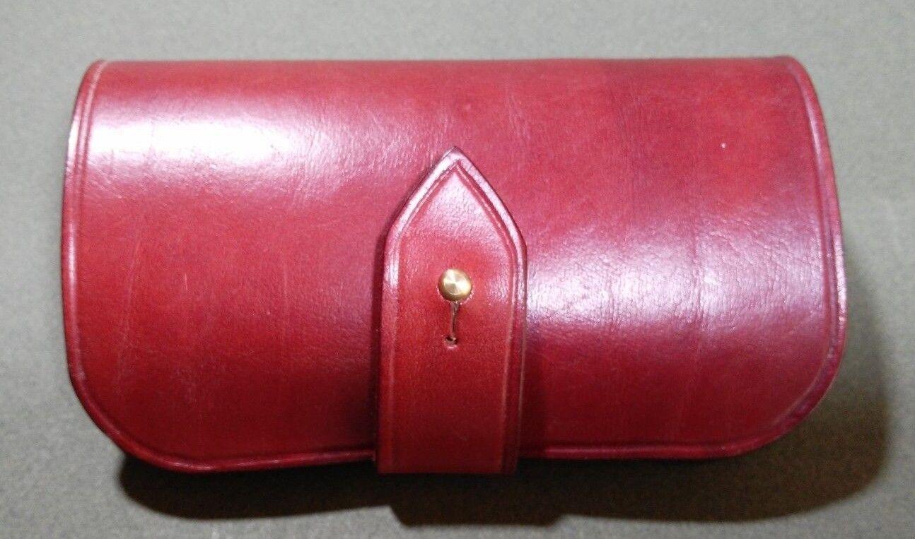 Soporte del Cochetucho Shell de cuero hecho a mano 12G 5 Round-Cinturón de lazo. Color rojizo.